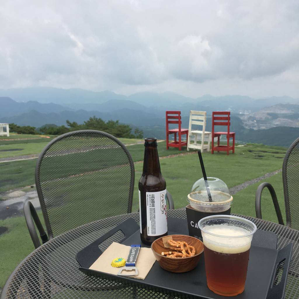 South Korea Travel Coffee Cafe Desserts Scenic View Danyang Cafe Sann Paragliding Mountains
