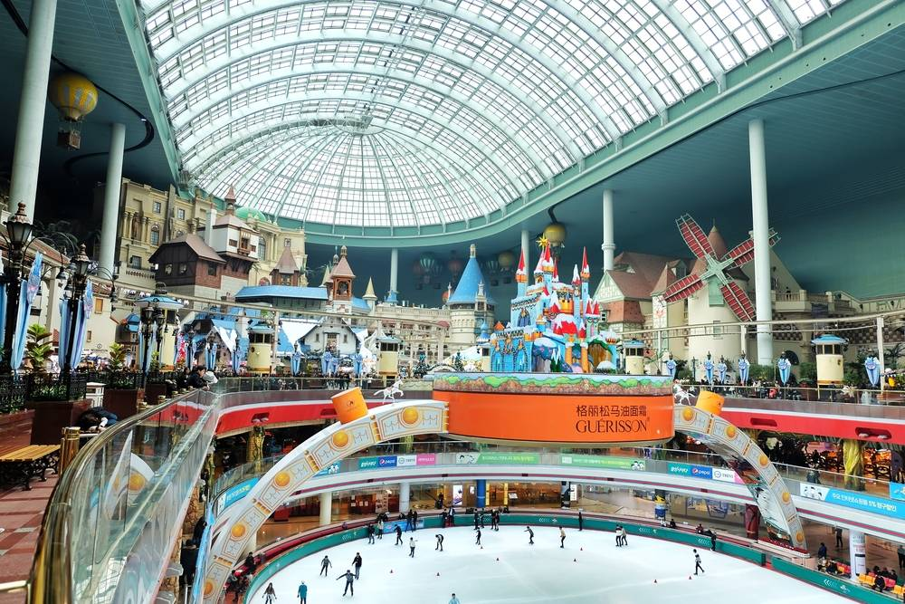 South Korea Travel Jamsil Lotte World Amusement Park Theme Park Fun Lotte World Tower Architecture Shopping Lake Nature Metropolis Scenic
